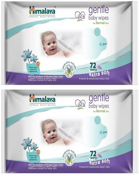 Himalaya Gentle Baby wipes(2 Pieces)