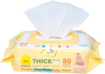 Piyo Piyo Pure Water baby Wipes~80 Sheets(1 Pieces)