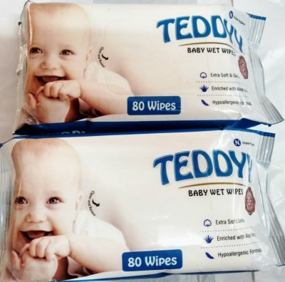 Teddy Baby wet wipes (pack of 2)