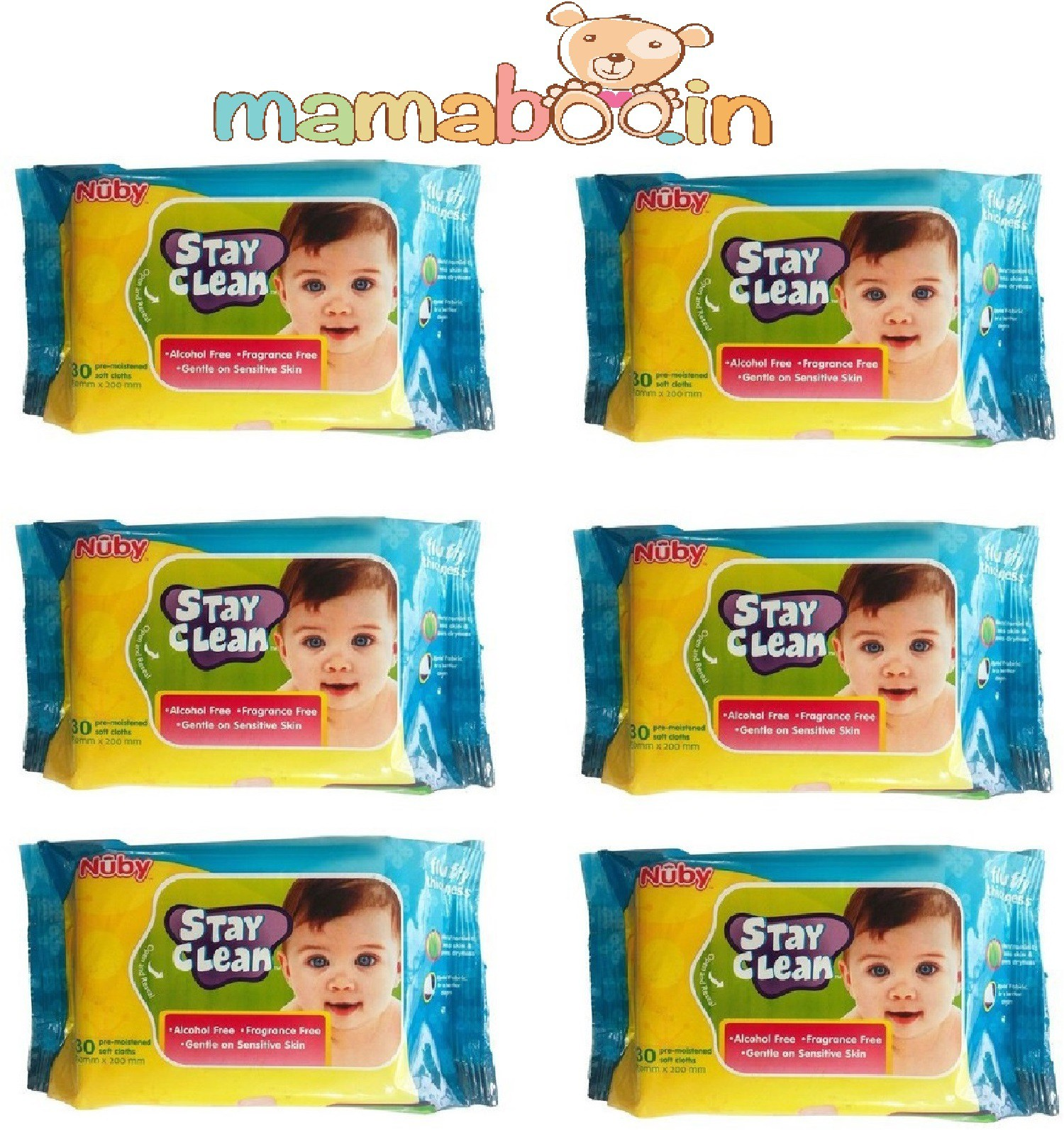 Mamaboo Nuby Baby Wet Wipes(6 Pieces)