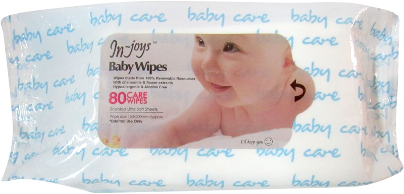 In-joys Baby Cotton Wipes(80 Pieces)
