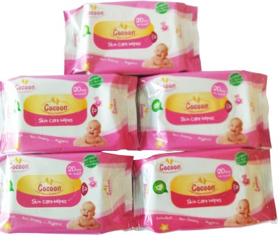 Cocoon Skin Care Wipes Count Size 20 per pack