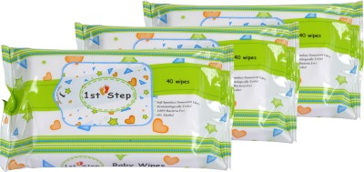 1st Step 3 Pcs Combo Pack Of Baby Wipes