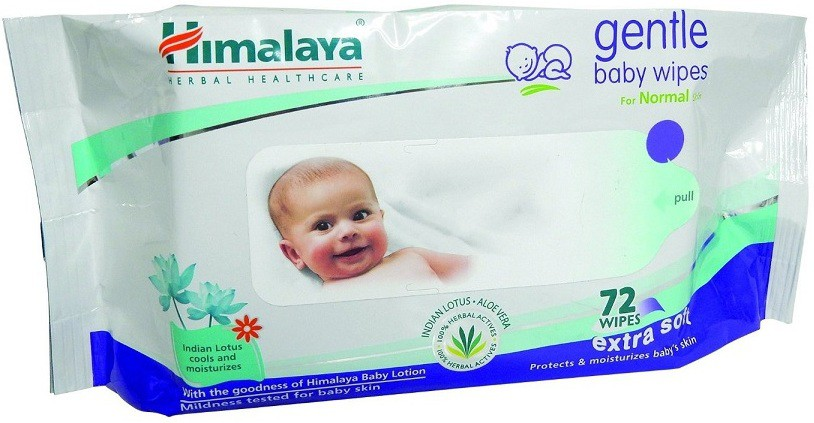 Himalaya Gentle Baby Wipes (72 Pieces)(1 Pieces)