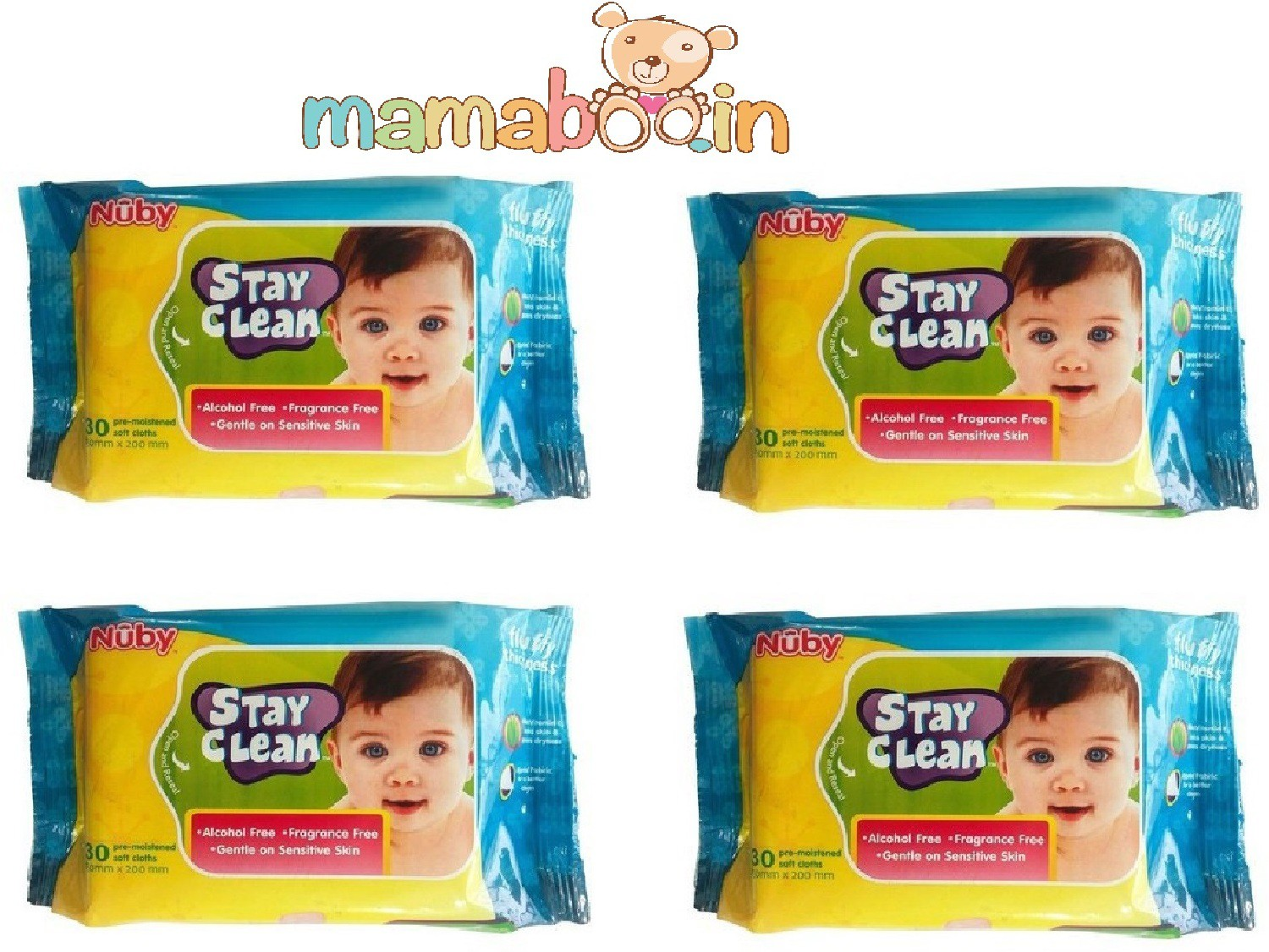 Mamaboo Nuby Baby Wet Wipes(4 Pieces)