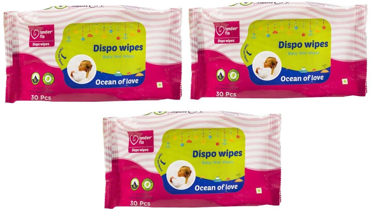 tender flo Dispo wipes(30 Pieces)