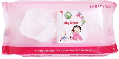 Morisons Baby Dreams Wipes 80 Pieces