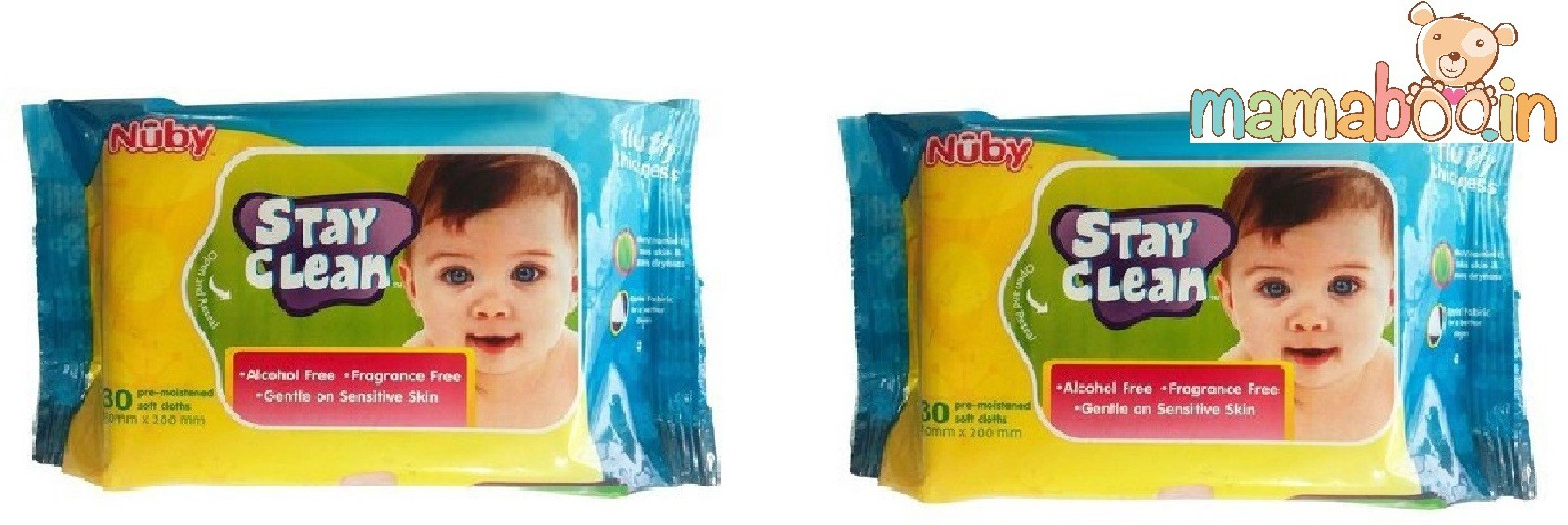 Mamaboo Nuby Baby Wet Wipes(2 Pieces)