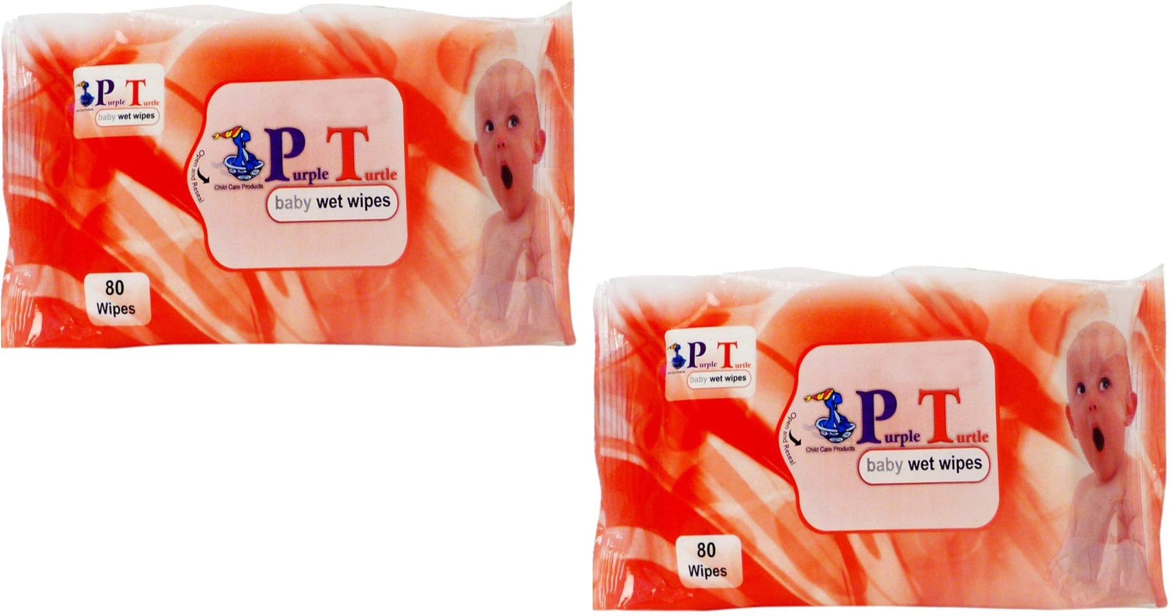 Mamaboo Purple Turtle Baby Wet Wipes(2 Pieces)