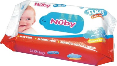 Nuby Stay Clean Soft Clothes(80 Pieces)