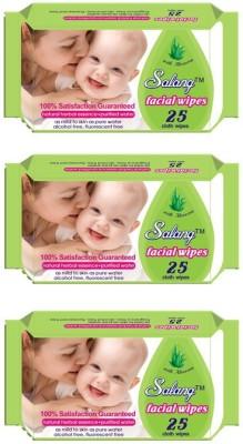 Salang Aloveera Facial Wipes 25Pcs(Pack of 3)