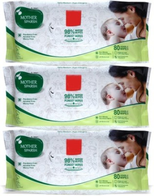 Mother Sparsh Baby Wipes (Pack of 3)