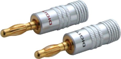 MX 1989 4mm BANANA PLUG BINDING POST for SPEAKER CABLE Wire Connector(Gold, Silver, Pack of 2)