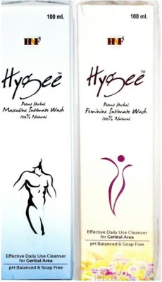 Hygee Herbal Feminine and Masculine (Combo) Intimate Wash(200 ml, Pack of 2)