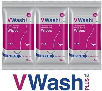 v wash hygiene Intimate Wipes(30 Sheets) at flipkart