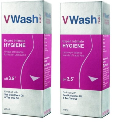 V wash V wash Intimate Hygiene pack of 2 Intimate Wash(400 ml)