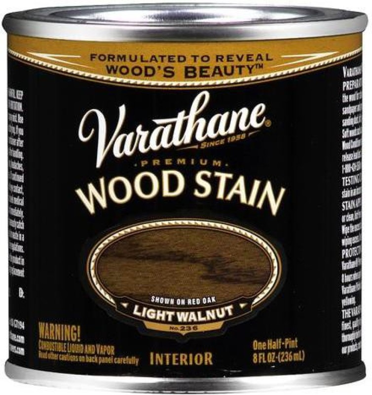 Varathane Light Walnut Oil Stain Wood Stain(236 ml)