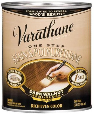 Varathane 225250H Semi Gloss, Dark Walnut, Oil Based Wood Varnish