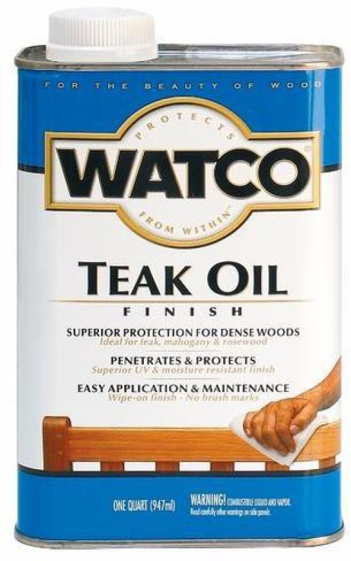 WATCO A67141 Clear, Teak Oil Wood Varnish(Drying Oils 947 ml)