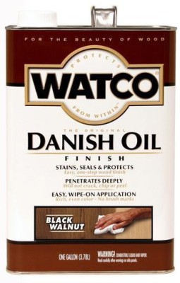 WATCO 65331 Black Walnut, Danish Oil Wood Varnish