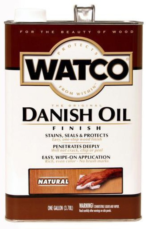 WATCO 65731 Natural, Danish Oil Wood Varnish(Drying Oils 3.78 L)