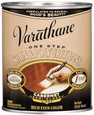 Varathane 225248H Semi Gloss, Cabernet, Oil Based Wood Varnish
