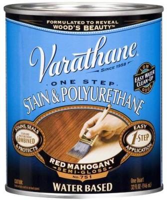 Varathane 239584H Semi Gloss, Red Mahogany, Water Based Wood Varnish