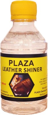 PLAZA Shiner for Shoes, Furniture, Leather products, Car dashboard etc - (2 x 200 ml) Pack Clear Wood Varnish(Resin 400 ml)