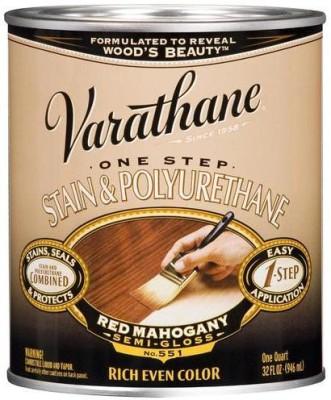 Varathane 225247H Semi Gloss, Red Mahogany, Oil Based Wood Varnish