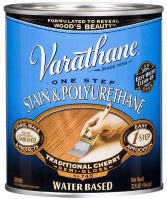 Varathane 239583H Semi Gloss, Traditional Cherry, Water Based Wood Varnish