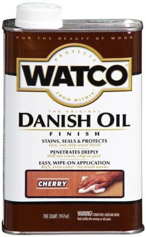 WATCO 65231 Cherry, Danish Oil Wood Varnish(Drying Oils 3.78 L)