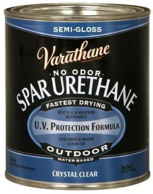 Varathane 250141H Semi Gloss, Clear, Water Based Wood Varnish