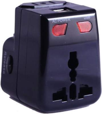 Artis AR-UV100 Universal Converter Charger Plug With 1A USB Charging Worldwide Adaptor