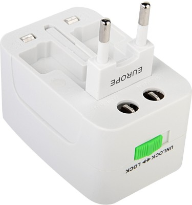 Shopo SM563WH Universal All In World Wide Travel Charger Multi Adapter Three Pin Plug(White)