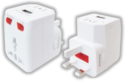 MX Travel Adaptor With Usb Charger, Indicator & Fuse Worldwide Adaptor