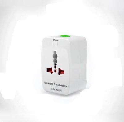 RoQ Multiplug With USB Worldwide Adaptor(White)