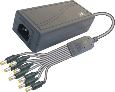 MX Power supply Input 220 AC to Output 12 Volts DC - 3 Amperes for 8 CCTV Cameras Worldwide Adaptor