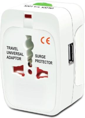 Le Figaro Multiplug With USB Worldwide Adaptor