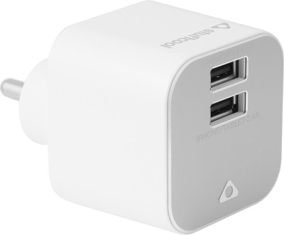 Stuffcool Zenit Dual USB Wall Charger 3.4 Amp - White Worldwide Adaptor