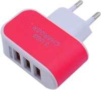 Gugzy Universal 3.1A EU Plug 3 Port USB Worldwide Adaptor(Red) best price on Flipkart @ Rs. 249
