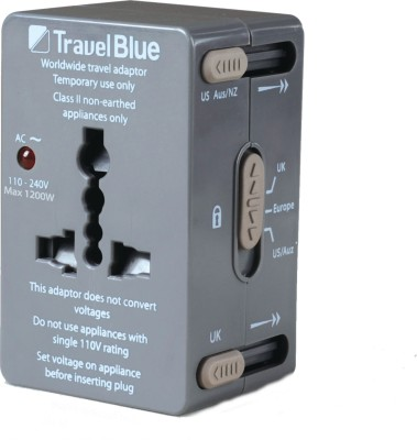 Travel Blue All-In-One Adaptor - For 152 Countries