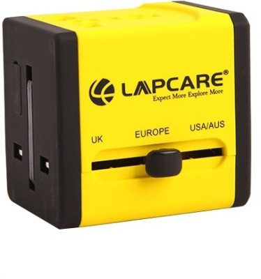 Lapcare Worldwide Adapter with Dual USB Port Worldwide Adaptor