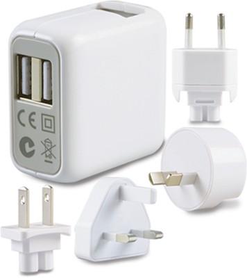 GM Twin Usb World Kit With Interchangeble Ac Plugs Worldwide Adaptor
