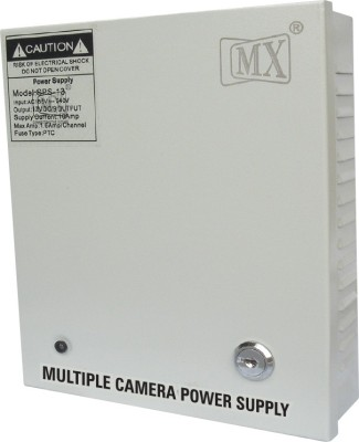 MX CCTV Camera and DVR Power supply Input 220 Volts AC to Output 12 Volts DC - 12 Amperes Worldwide Adaptor
