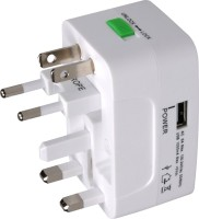 MX UNIVERSAL POCKET TRAVEL USB CHARGER Worldwide Adaptor(White) best price on Flipkart @ Rs. 399