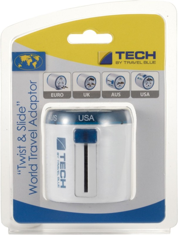 Travel Blue Twist & Slide Worldwide Adaptor(Blue)