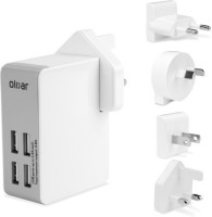 Olixar 4 USB Ports Worldwide Adaptor(White) best price on Flipkart @ Rs. 3325
