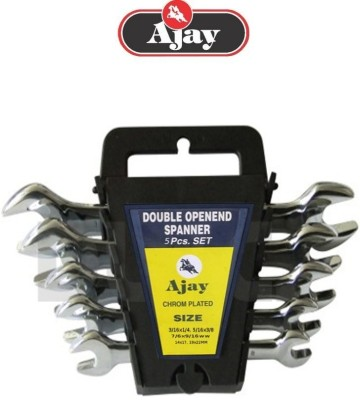 Ajay A100-5L Double Sided Open End Wrench Set