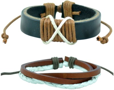 Alphaman Leather Bracelet Set