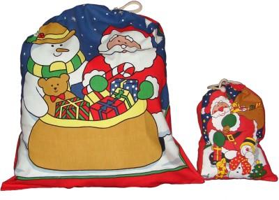 Garapa Santa Deer Christmas Sack(Pack of 2)
